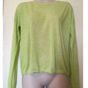 Gap Shirt Small Lime Green White Print